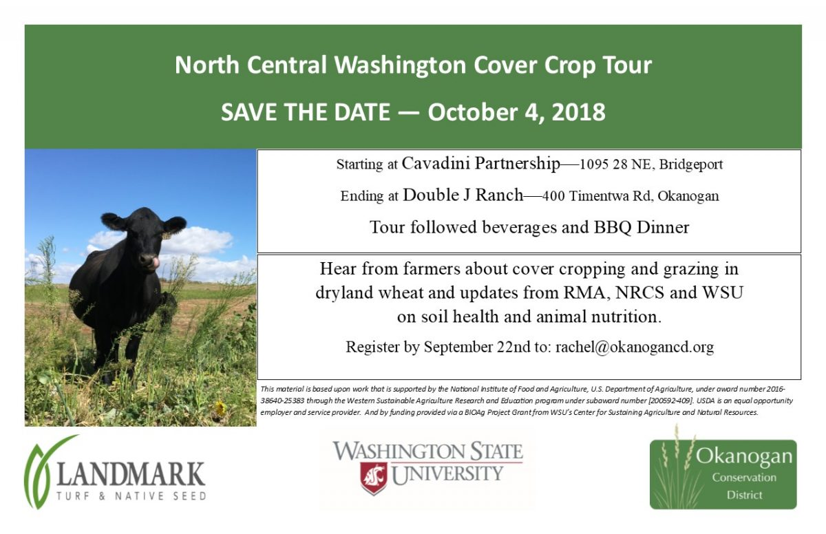 North Central Washington Cover Crop Tour October 4th, 2018