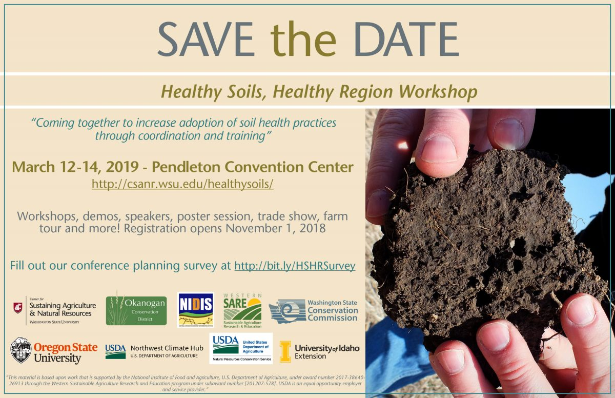 Save the Date: Healthy Soils, Healthy Region Workshop